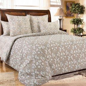 «Корнелия 2 беж» 1,5 - спальное постельное белье, Перкаль, Текс-Дизайн