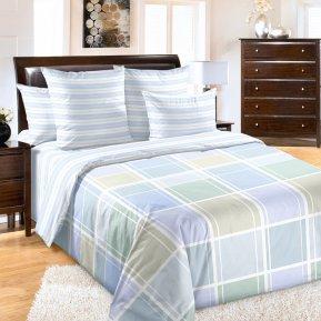 «Грани 4 сир» двуспальное с европростыней постельное белье, Перкаль, Текс-Дизайн