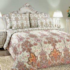 «Муза 1 беж.» двуспальное с европростыней постельное белье, Перкаль, Текс-Дизайн