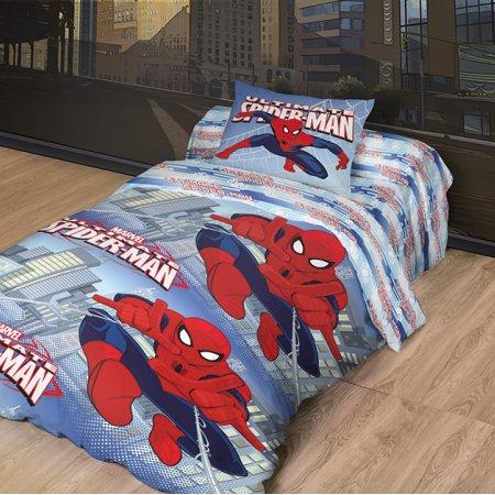 «Человек паук №2» 1,5 - спальное постельное белье, Ранфорс, НордТекс