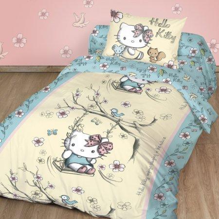 «Hello Kitty №2» 1,5 - спальное постельное белье, Ранфорс, НордТекс