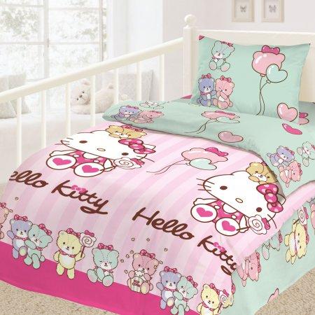 «Hello Kitty №3» 1,5 - спальное постельное белье, Ранфорс, НордТекс