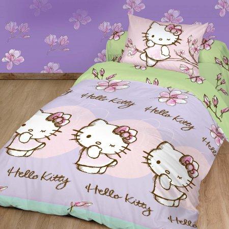 «Hello Kitty №5» 1,5 - спальное постельное белье, Ранфорс, НордТекс