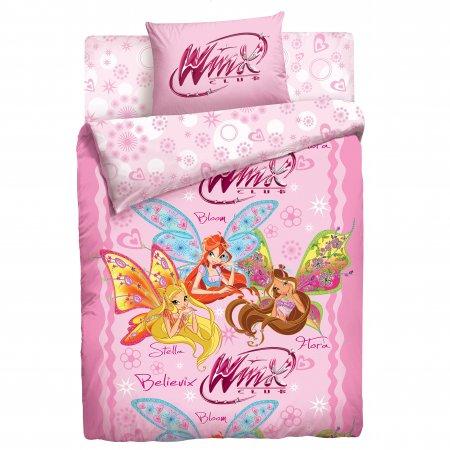 «Winx» 1,5 - спальное постельное белье, Поплин, НордТекс