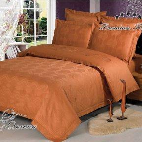 «Бьянка (капучино)» двуспальное с европростыней постельное белье, САТИН-Жаккард, Арт Дизайн