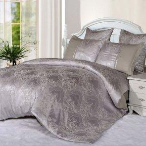 «21/061-SG» двуспальное с европростыней постельное белье, Сатин-Жаккард, Cleo