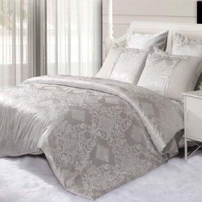 «21/062-SG» двуспальное с европростыней постельное белье, Сатин-Жаккард, Cleo