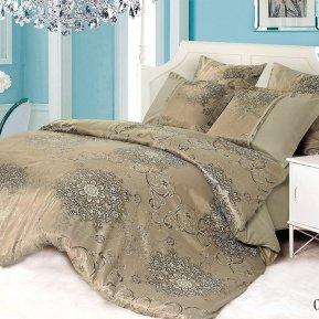 «21/070-SG» двуспальное с европростыней постельное белье, Сатин-Жаккард, Cleo