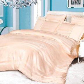 «21/079-SG» двуспальное с европростыней постельное белье, Сатин-Жаккард, Cleo