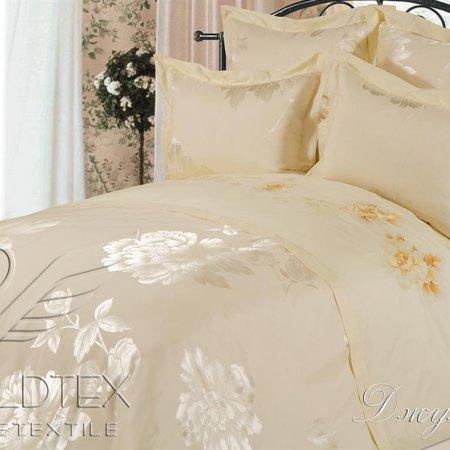 Постельное белье «Джулия №2» двуспальное с европростыней, САТИН-Жаккард, Goldtex