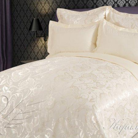 Постельное белье «Карамелла» 1,5 - спальное, САТИН-Жаккард, Goldtex