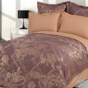 «Каролина №2» семейное постельное белье, САТИН-Жаккард, Goldtex