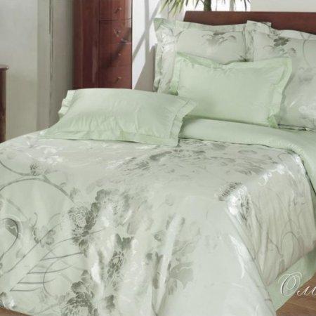 Постельное белье «Оливия №2» двуспальное с европростыней, САТИН-Жаккард, Goldtex