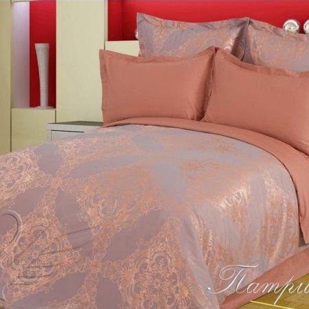 Постельное белье «Патриция» двуспальное с европростыней, САТИН-Жаккард, Goldtex