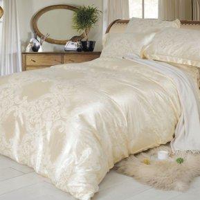 «F-136» двуспальное с европростыней постельное белье, Сатин-Жаккард, СайлиД