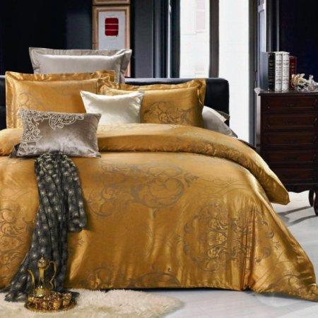 «JC-15-282» 1,5 - спальное постельное белье, Сатин-Жаккард, Вальтери