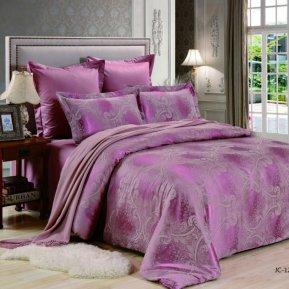 «JC-128-282» 1,5 - спальное постельное белье, Сатин-Жаккард, Вальтери
