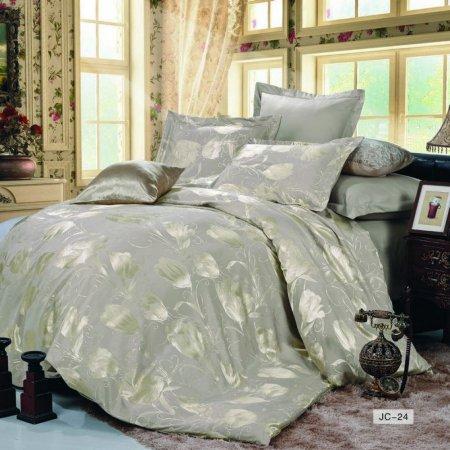 «JC-24-282» 1,5 - спальное постельное белье, Сатин-Жаккард, Вальтери