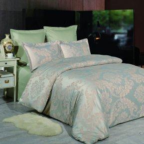 «JC-46-282» 1,5 - спальное постельное белье, Сатин-Жаккард, Вальтери