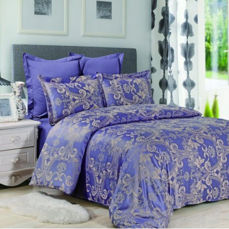 «JC-34-282» 1,5 - спальное постельное белье, Сатин-Жаккард, Вальтери