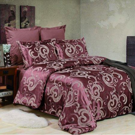 «JC-40-282» 1,5 - спальное постельное белье, Сатин-Жаккард, Вальтери