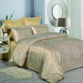 «JC-47-282» 1,5 - спальное постельное белье, Сатин-Жаккард, Вальтери