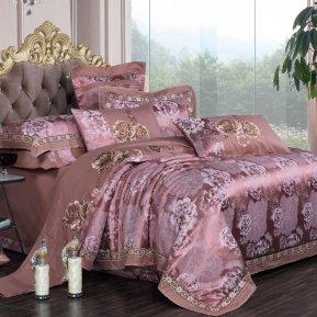 «JC-129-282» 1,5 - спальное постельное белье, Сатин-Жаккард, Вальтери