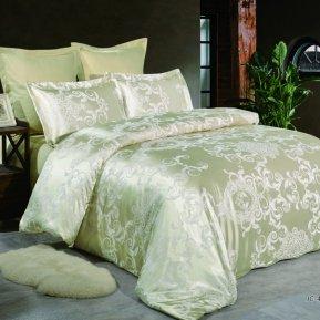 «JC-48-282» 1,5 - спальное постельное белье, Сатин-Жаккард, Вальтери