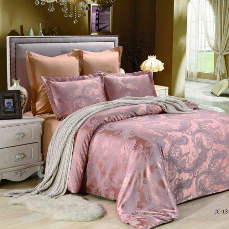 «JC-131-282» 1,5 - спальное постельное белье, Сатин-Жаккард, Вальтери
