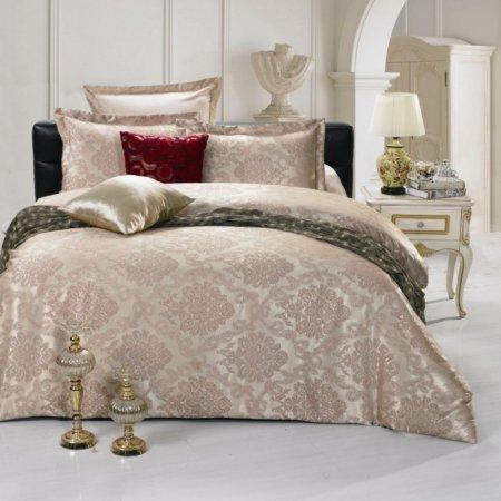 «JC-19-282» 1,5 - спальное постельное белье, Сатин-Жаккард, Вальтери