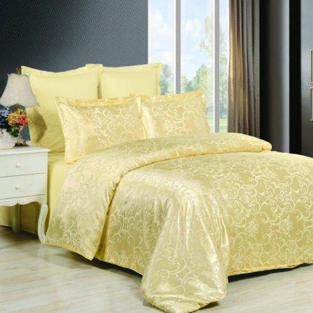 «JC-43-282» 1,5 - спальное постельное белье, Сатин-Жаккард, Вальтери