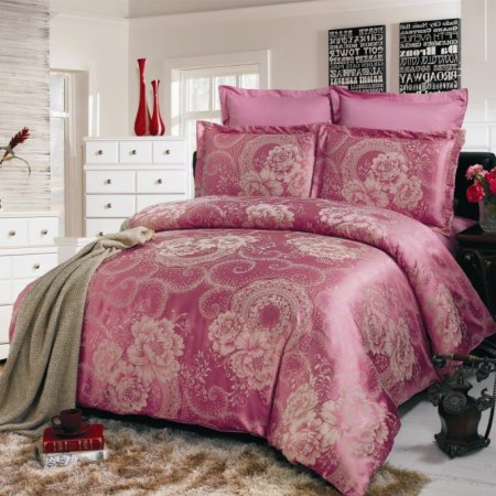 «JC-02-282» 1,5 - спальное постельное белье, Сатин-Жаккард, Вальтери