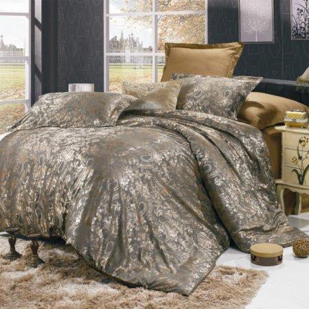 «JC-12-282» 1,5 - спальное постельное белье, Сатин-Жаккард, Вальтери