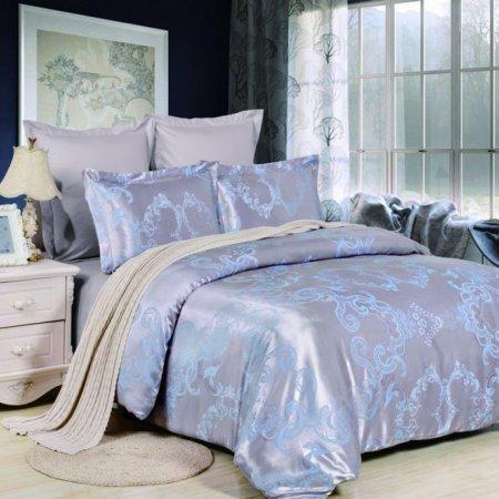 «JC-41-282» 1,5 - спальное постельное белье, Сатин-Жаккард, Вальтери