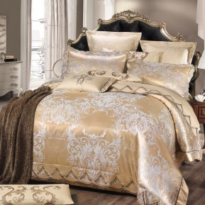 «JC-120-171» семейное постельное белье, Сатин-Жаккард, Вальтери