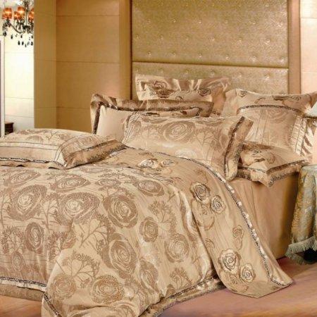 «220-46-173» двуспальное с европростыней постельное белье, Сатин-Жаккард, Вальтери