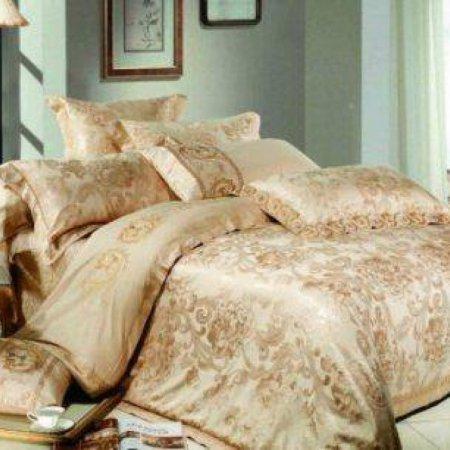«220-53-173» двуспальное с европростыней постельное белье, Сатин-Жаккард, Вальтери