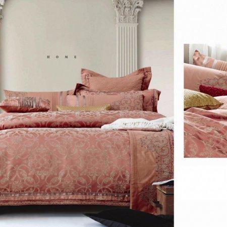 «220-93-173» двуспальное с европростыней постельное белье, Сатин-Жаккард, Вальтери