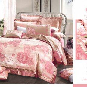 «220-121-173» двуспальное с европростыней постельное белье, Сатин-Жаккард, Вальтери
