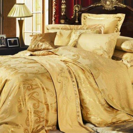 «220-47-173» двуспальное с европростыней постельное белье, Сатин-Жаккард, Вальтери