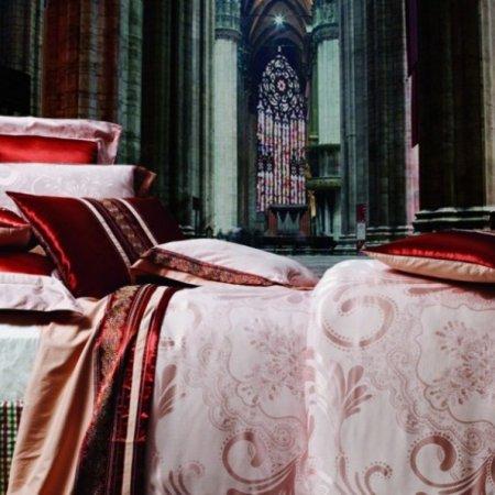 «220-87-173» двуспальное с европростыней постельное белье, Сатин-Жаккард, Вальтери