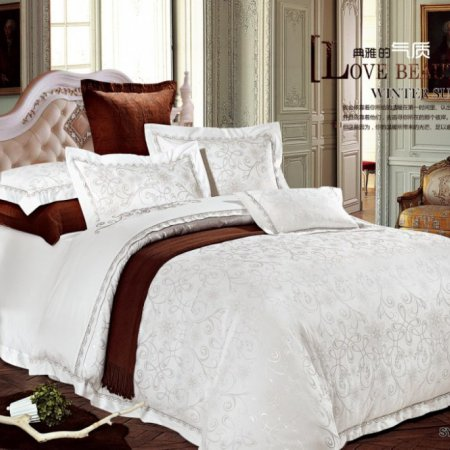 «220-125-173» двуспальное с европростыней постельное белье, Сатин-Жаккард, Вальтери