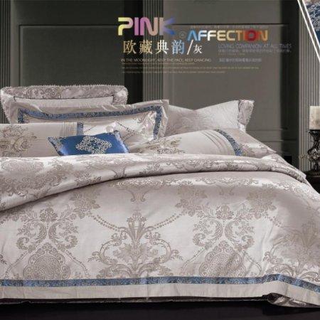 «220-80-173» двуспальное с европростыней постельное белье, Сатин-Жаккард, Вальтери
