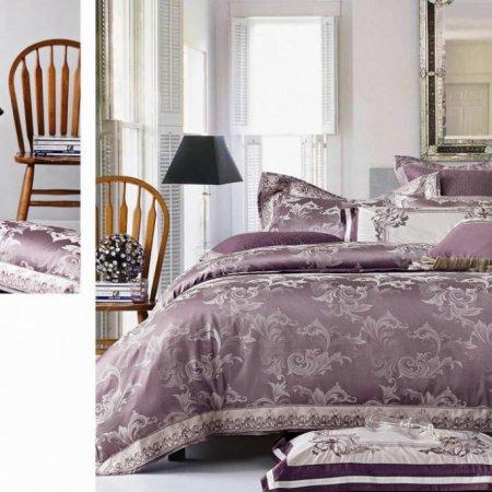 «220-98-173» двуспальное с европростыней постельное белье, Сатин-Жаккард, Вальтери