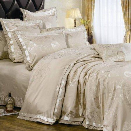 «220-52-173» двуспальное с европростыней постельное белье, Сатин-Жаккард, Вальтери