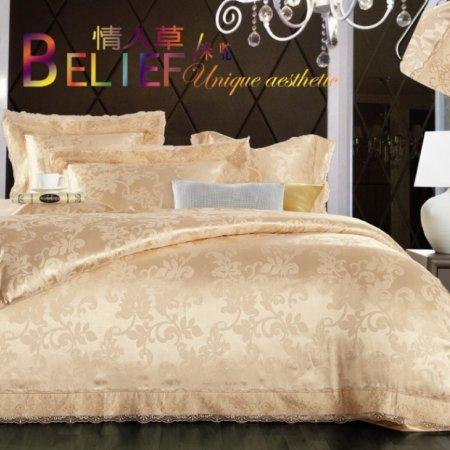 «220-84-173» двуспальное с европростыней постельное белье, Сатин-Жаккард, Вальтери
