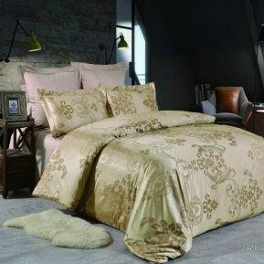 «JC-51-173» двуспальное постельное белье, Сатин-Жаккард, Вальтери