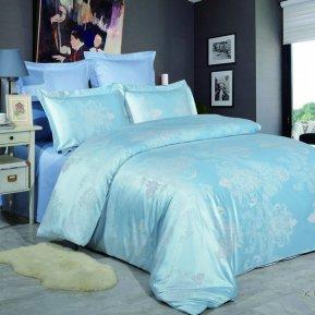«JC-55-173» двуспальное постельное белье, Сатин-Жаккард, Вальтери