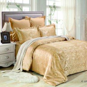 «JC-127-173» двуспальное постельное белье, Сатин-Жаккард, Вальтери