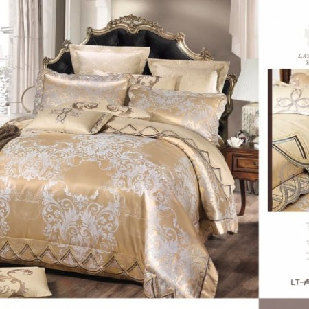 «220-120-171» семейное постельное белье, Сатин-Жаккард, Вальтери